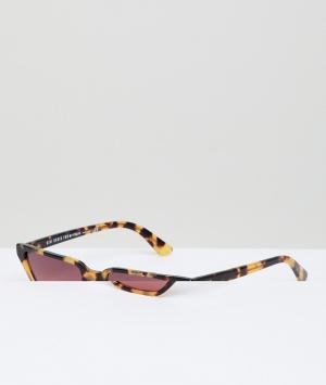 Солнцезащитные очки кошачий глаз в черепаховой оправе с розовыми стеклами Vogue Eyewear by Gigi Hadid. Цвет: коричневый
