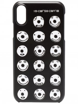 Чехол Smiley для iPhone X 10 CORSO COMO. Цвет: черный