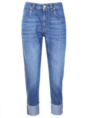 Укороченные джинсы-бойфренды BRUNELLO CUCINELLI
