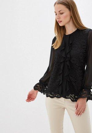 Блуза Perspective. Цвет: черный