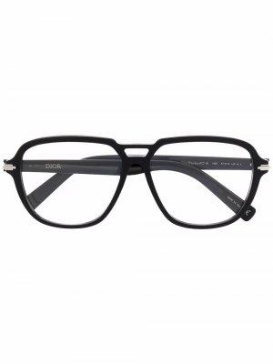 Очки-авиаторы BlackSuit Dior Eyewear. Цвет: черный