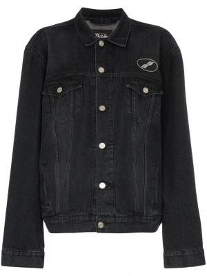 Джинсовая куртка We11done. Цвет: черный