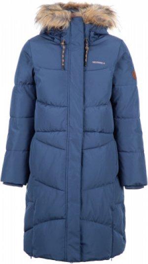 Пальто для девочек , размер 170 Merrell. Цвет: синий