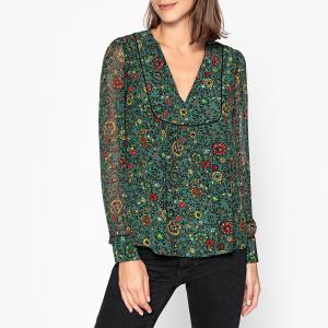 Блузка с рисунком и тунисским вырезом COCOON BA&SH