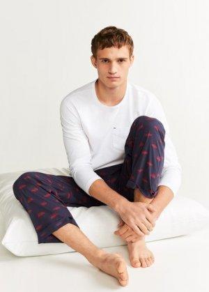 Комплект пижама из хлопка - Picar Mango. Цвет: темно-синий