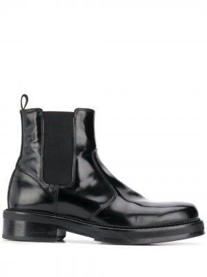Ботинки челси с квадратным носом AMI Paris. Цвет: черный