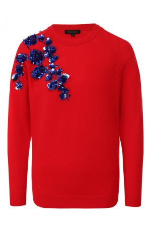 Пуловер из смеси шерсти и кашемира Escada. Цвет: красный