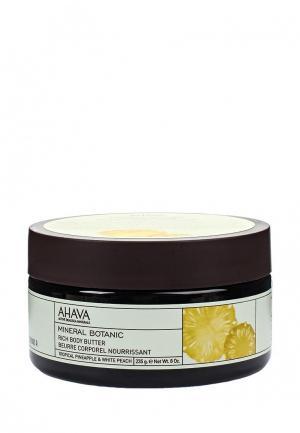 Масло для тела Ahava Mineral Botanic Насыщенное тропический ананас и белый персик 235 гр