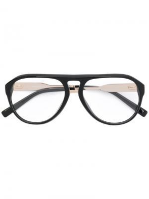 Очки с оправой авиатор Dsquared2 Eyewear. Цвет: чёрный