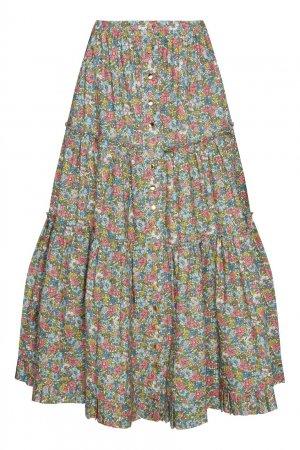 Юбка миди с цветочным принтом Marc Jacobs (THE). Цвет: multicolor