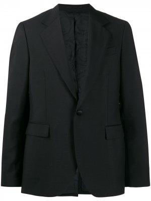 Пиджак с ремешками на спине Versace. Цвет: черный