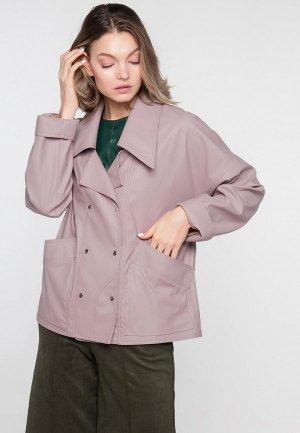 Куртка кожаная Limonti. Цвет: розовый