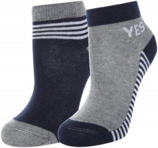 Носки для мальчиков , 2 пары, размер 28-30 Demix. Цвет: серый