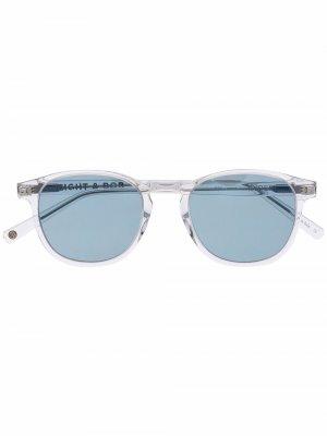 Солнцезащитные очки в круглой оправе Eight & Bob. Цвет: белый