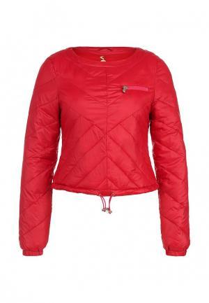 Куртка утепленная Patrizia Pepe. Цвет: красный