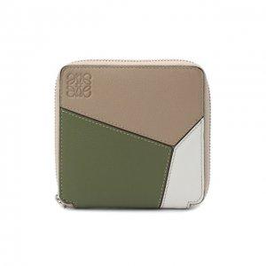 Кожаное портмоне Loewe. Цвет: зелёный