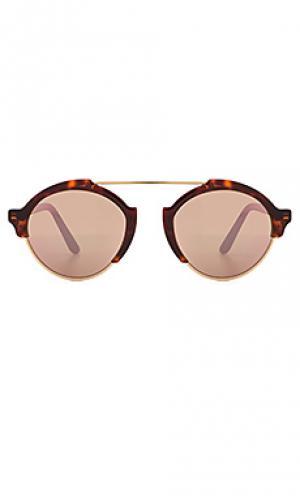 Солнцезащитные очки milan iii illesteva. Цвет: коричневый
