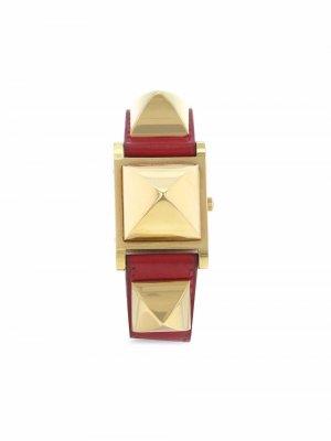 Наручные часы Médor pre-owned 23 мм 1990-х годов Hermès. Цвет: белый