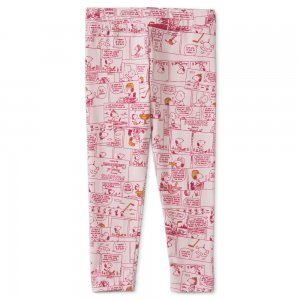 Детские леггинсы x PEANUTS Printed Kids Leggings PUMA. Цвет: розовый
