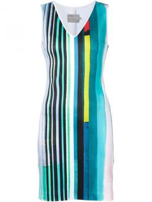Эластичное платье с принтом Clover Canyon. Цвет: зелёный
