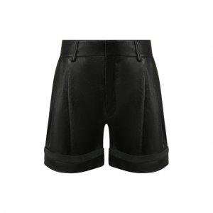 Кожаные шорты Chloé. Цвет: чёрный