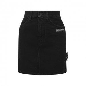 Джинсовая юбка Off-White. Цвет: чёрный