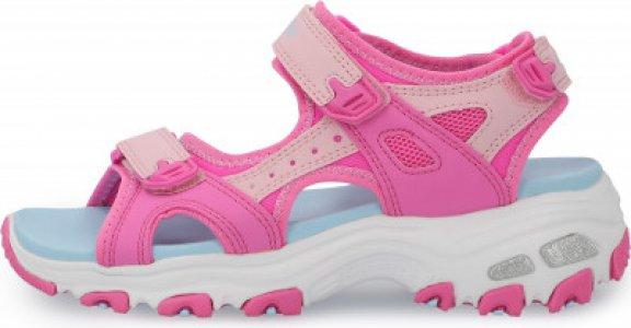 Сандалии для девочек DLites Girls, размер 33 Skechers. Цвет: розовый