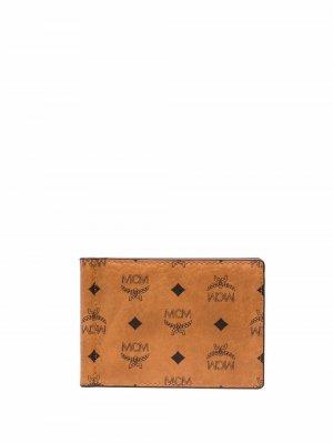 Кошелек с зажимом для банкнот и монограммой MCM. Цвет: коричневый