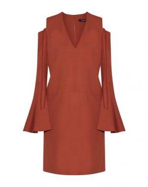 Короткое платье DEREK LAM. Цвет: ржаво-коричневый