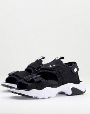 Черно-белые сандалии с тремя ремешками Canyon-Черный цвет Nike