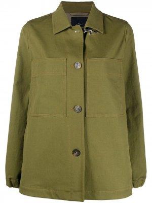 Куртка-рубашка с нагрудными карманами Fay. Цвет: зеленый