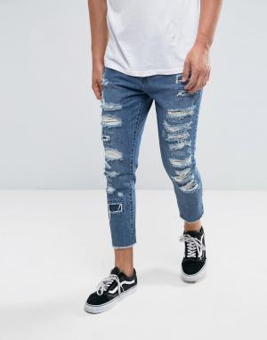 Рваные джинсы скинни Cayler & Sons. Цвет: синий