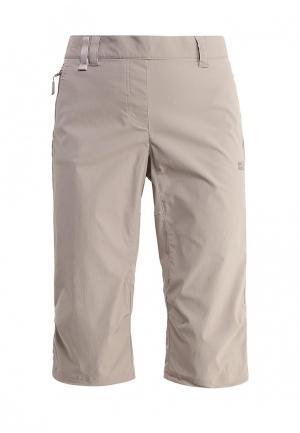 Шорты спортивные Jack Wolfskin ACTIVATE LIGHT 3/4 PANTS. Цвет: серый