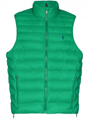 Дутый жилет Polo Ralph Lauren. Цвет: зеленый