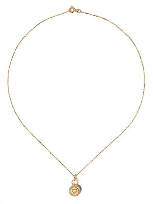 Колье из желтого золота с бриллиантами Aurelie Bidermann. Цвет: золотистый