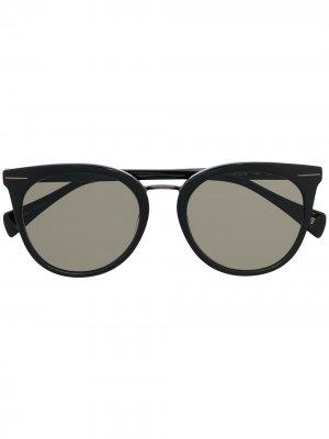 Солнцезащитные очки в оправе кошачий глаз Yohji Yamamoto. Цвет: черный