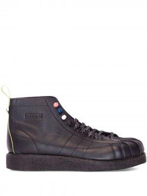 Ботинки Superstar adidas. Цвет: черный