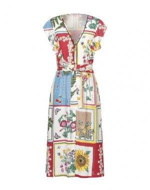 Платье длиной 3/4 RENE' DERHY. Цвет: красный