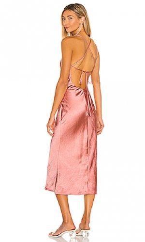 Платье миди arnoldo Camila Coelho. Цвет: rose