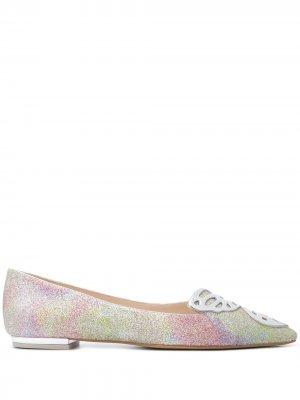 Туфли-лодочки Faw с блестками Sophia Webster. Цвет: розовый