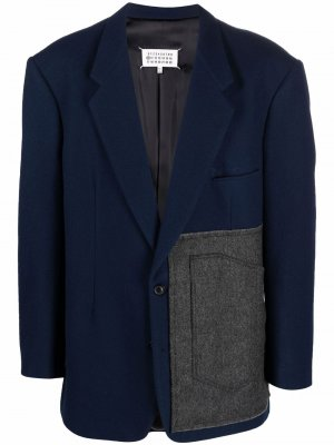 Пиджак с накладным карманом Maison Margiela. Цвет: синий