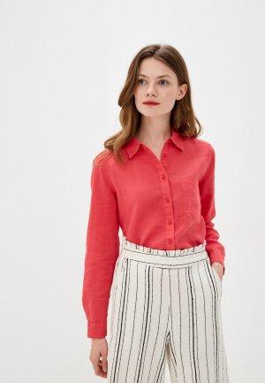 Рубашка Marks & Spencer. Цвет: розовый