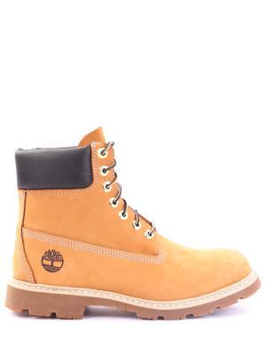 Замшевые ботинки TIMBERLAND. Цвет: оранжевый