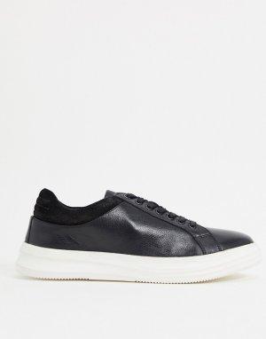 Черные кожаные кроссовки -Черный цвет Dune