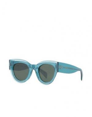 Солнечные очки CELINE. Цвет: цвет морской волны