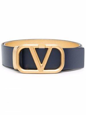 Ремень с пряжкой VLogo Signature Valentino Garavani. Цвет: синий
