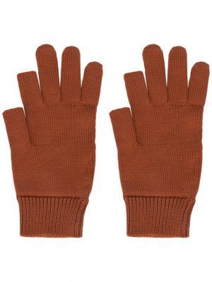 Перчатки с обрезанными большим и указательным пальцами Rick Owens. Цвет: красный