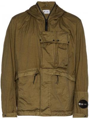 Куртка Adidas Originals x C. P. Company Explorer с капюшоном. Цвет: зеленый