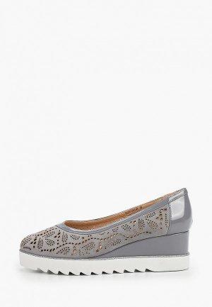 Туфли Balex Увеличенная полнота. Цвет: серый