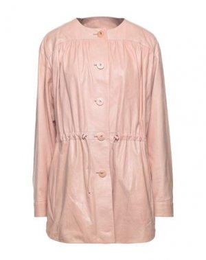 Пальто DROMe. Цвет: светло-розовый